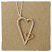 J & I Sterling Silver and 14k Gold Filled Heart Necklace RE15N