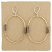 Hammered Goldfilled Oval with Oxidized Wire Wraps Earring