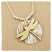 Dragonfly 14kt Goldfill on Textured SS Disc Necklace