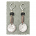 Hammered Sterling Drop on Copper and Smoky Quartz Earring