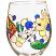Mermaid Hand Painted Wine Glass
