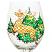 Reindeer Wine Glass Hand Painted