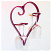 Red Cuore e Vino heart wine glass holder Iron Chinchilla