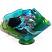 Mermaid Waved Fused and Slumped Glass Vase