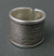 Sterling Etched Band. Handmade in USA. Whole sizes 5 to 10