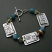 Sterling curlicue bracelet with amazonite, pearl, and jade