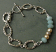 Etched sterling oval and amazonite bracelet