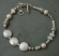 Sterling, freshwater white pearl, and white Mother of Pearl bracelet