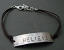 "Sterling 'BELIEVE"" bracelet on brown cord bracelet"
