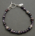 Sterling, lilac pearl and amethyst beaded bracelet.
