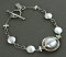 Sterling wrapped white coin pearl bracelet