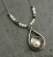 Sterling Teardrop with Freshwater Pearl Necklace