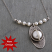 Sterling Wrapped White Coin Pearl Necklace