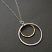 Textured sterling and 14kt goldfilled rings on sterling necklace