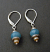 Sterling, Amazonite and Tan Pearl Drop Earring