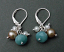 Sterling, Amazonite and Pearl Earring.