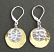 Hammered Brass Oval and Sterling Disc Earring