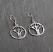 Sterling Oak Tree Cutout Earring.