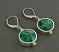 Turquoise Circled by Sterling Earring
