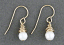 Faceted White Pearl Wrapped in 14kt Goldfilled Wire