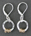 Hammered Sterling Circle Earring Handwrapped in 14kt Goldfilled Wire.