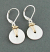 Sterling Disc with Goldfilled Wire Wrap Earring