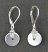 Hand Wrapped Sterling Disc Earring