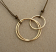 14kt Hammered Goldfill Interlocking Circles on Brown Cord Necklace