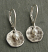Hammered Sterling Disc with White Pearl Earring. Sterling leverback hook.  Made In USA.