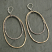 Hammered 14kt Goldfill and Silver Oval Earring