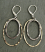 Hammered Handhewn Sterling and 14kt Goldfill Oval Earring