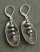 Sterling Oval and Lilac Pearl Earring