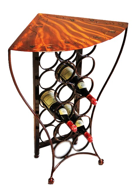Wrought Iron Wine Rack Tables Home Design Ideas