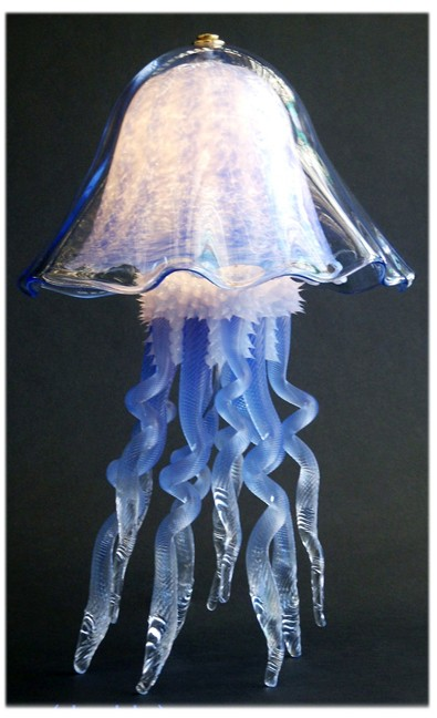 Jellyfish Double Dome Table Lamp Blue By Joel Bloomberg