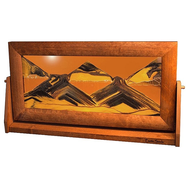 moving sand art picture xlarge sunset orange alder - Moving Picture Frames