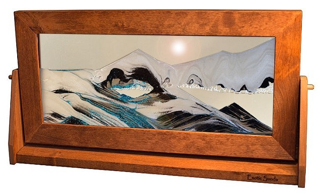 moving sand art picture xlarge arctic glacier clear alder