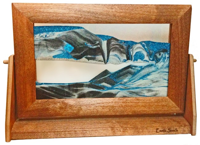 moving sand picture arctic glacier clear alder frame lg