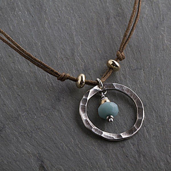 Amazonite, 14kt Goldfill and Oxidized Sterling Beads