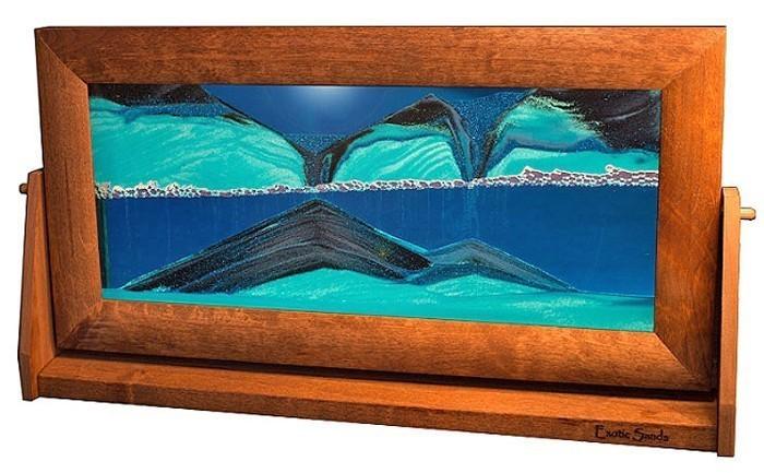 Moving Sand Pictures X-Large Ocean Blue Alder Wood