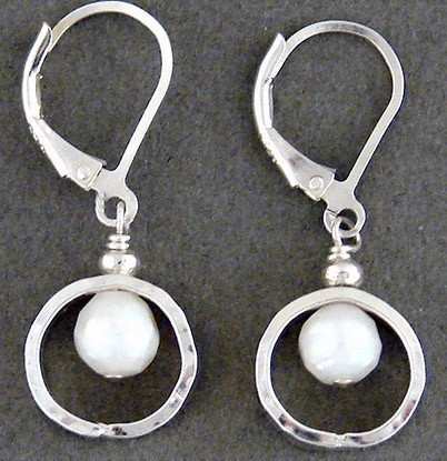 Pearl Sterling Silver Ring Earring
