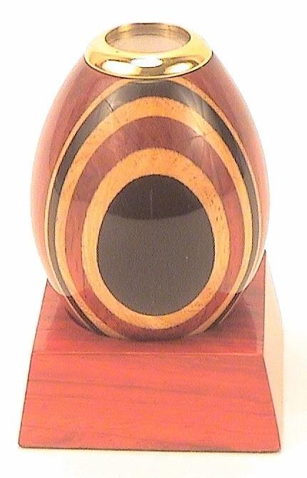 "Wooden Kaleidoscope Egg w/Base 3"""