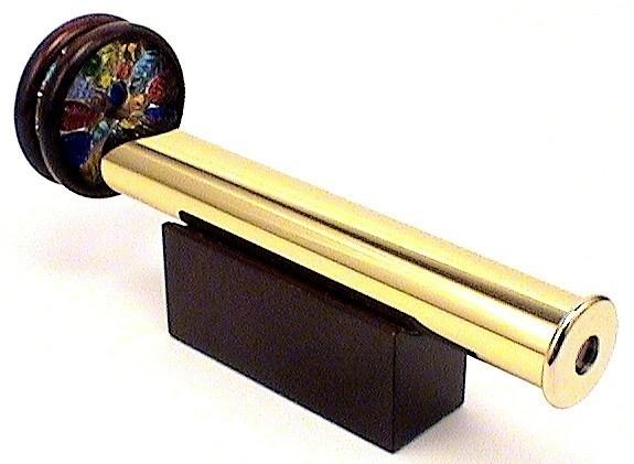 """Kaleidoscope Solid Brass w/Two 2"""" Wheels 7 3/4"""""""