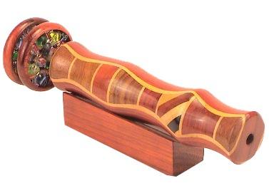 "Elegant Wooden Kaleidoscope w/ 2"" Wheels  5 1/2"