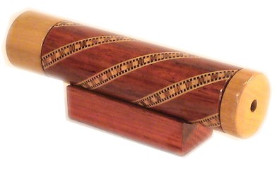Wooden Kaleidoscope with Rotating Dry Chamber 6""