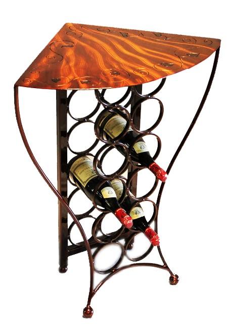 Balaton Corner Wine Table  | 4 finishes by Iron Chinchilla