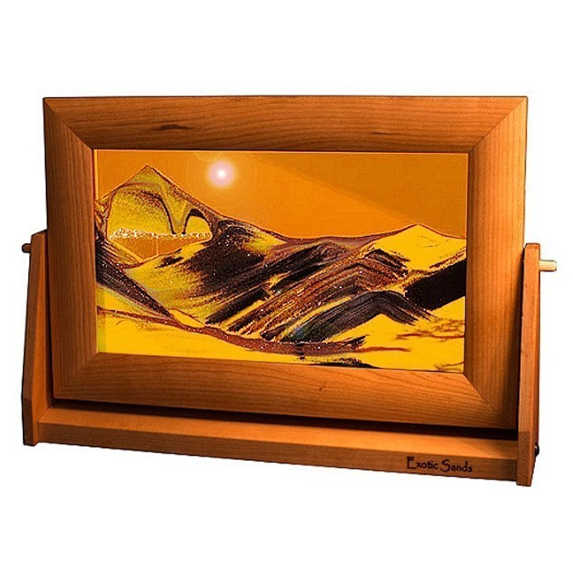 Moving Sand PicturesSunset Cherry Wood Orange Lg