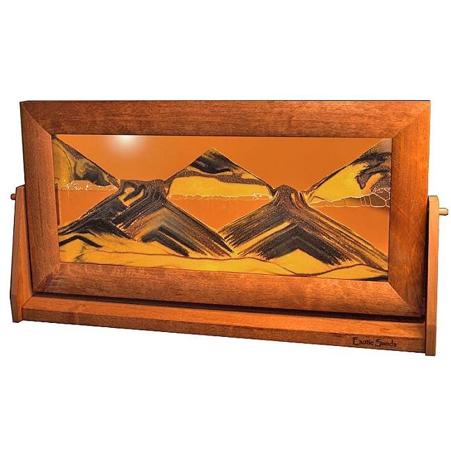 Moving Sand Art Picture Xlarge Sunset Orange Alder