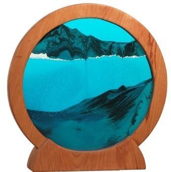 Round Sand Picture Cherry Lg. Ocean Blue