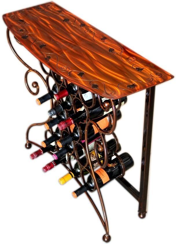 Vino Wine Storage Table   4 finishes by Iron Chinchilla