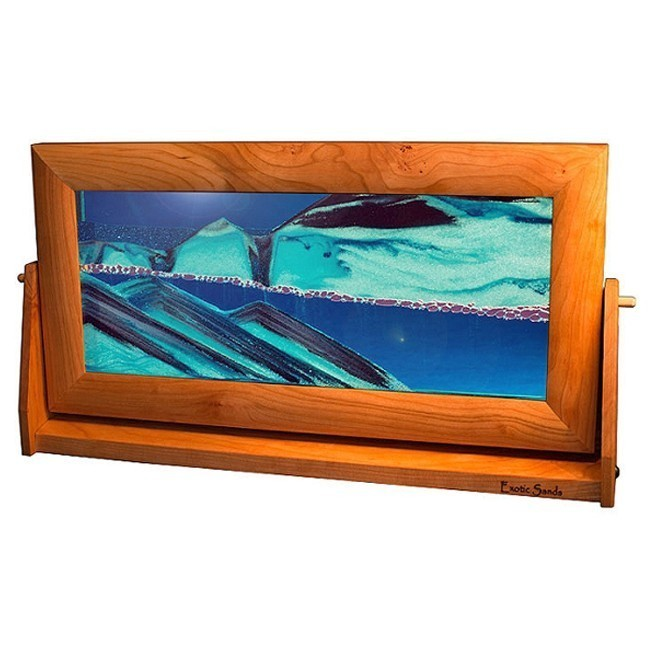 Moving Flowing Sand Picture XLarge Ocean Blue - Cherry